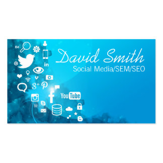 Social Media/SEM/SEO Double-Sided Standard Business Cards (Pack Of 100)