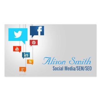 Social Media/SEM/SEO Tarjetas De Visita