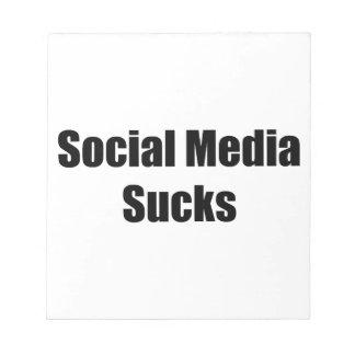 Social Media Sucks Notepad