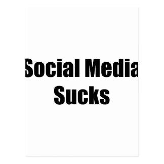 Social Media Sucks Postcard
