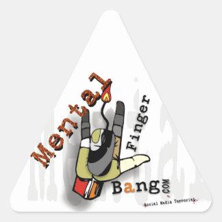 Social media Terrorist Artist Design Triangle Sticker