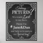 social media wedding sign chalkboard poster