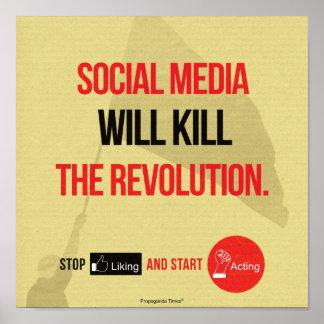 Social Media Will Kill Poster