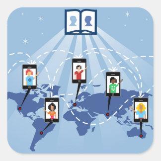 Social Media World Square Sticker