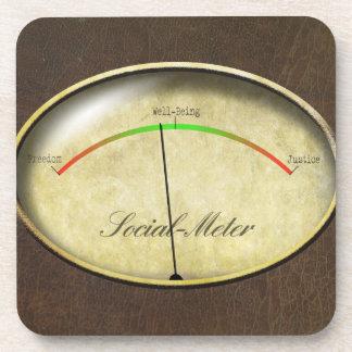 Social-Meter Coaster