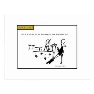 social network cartoon postcard