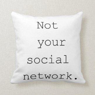 'Social Network' Cotton Throw Pillow