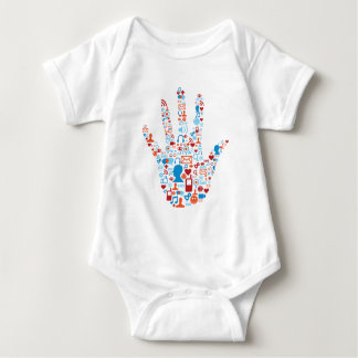 Social Network Hand Baby Bodysuit