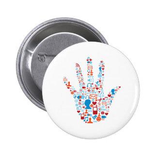 Social Network Hand Pins