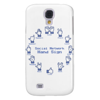 Social Network Hand Sign Galaxy S4 Case