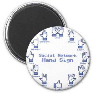 Social Network Hand Sign Magnet