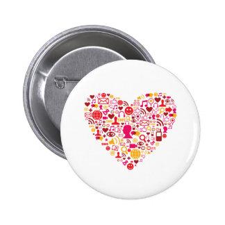 Social Network Heart Buttons
