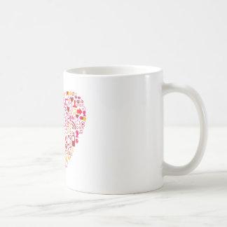 Social Network Heart Coffee Mug