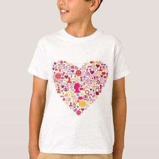 Social Network Heart T-Shirt