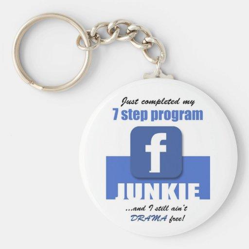 SOCIAL NETWORK junkies Basic Round Button Keychain