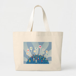 Social Network Large Tote Bag