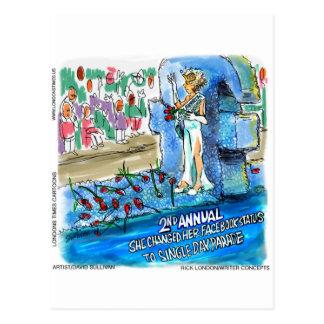 Social Network Marital Status Changed Parade Gifts Postcard