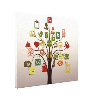 Social Network Tree Wall Art Canvas