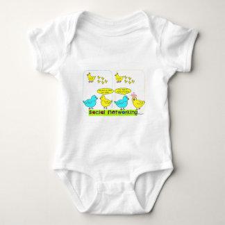 Social Networking Baby Bodysuit
