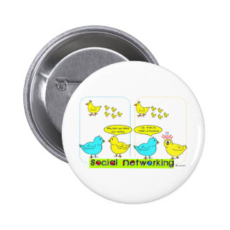 Social Networking Pinback Button