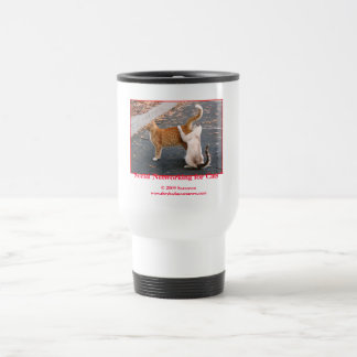 Social Networking for Cats 15 Oz Stainless Steel Travel Mug