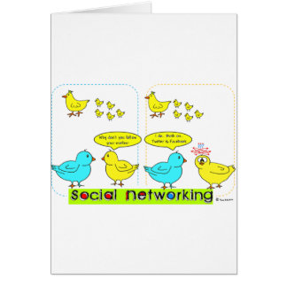 Social Networking Greeting Card