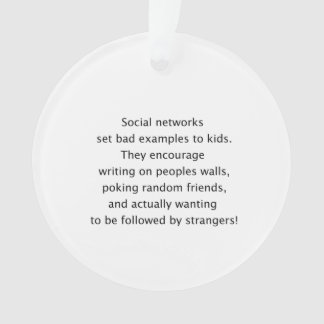 Social networks funny text