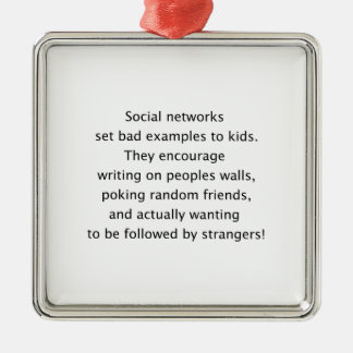 Social networks funny text ornament