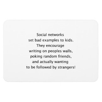 Social networks funny text magnets