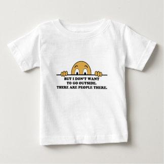 Social Phobia Humor Saying Baby T-Shirt