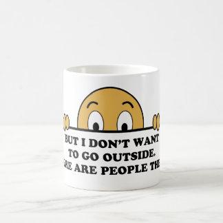Social Phobia Humor Saying Coffee Mug