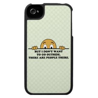 Social Phobia Humor Saying iPhone 4 Covers
