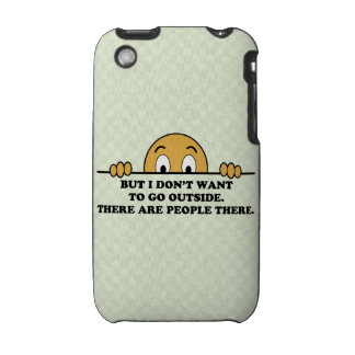 Social Phobia Humor Saying iPhone 3 Cover