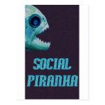 Social Piranha Logo Items Postcards