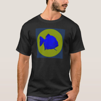 Social Piranha - SP disc logo with background T-Shirt