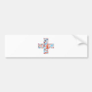 Social Plus Shape Bumper Sticker