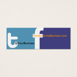 Facebook logo business cards templates zazzle social profile business card tf 20 back logo colourmoves