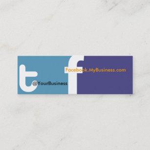Facebook logo business cards templates zazzle social profile business card tf 20 back logo colourmoves