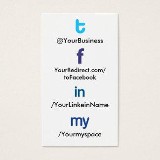 Social Profile Business Card tflm 2.0 vertblankbak