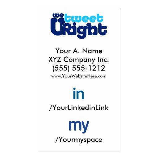 Social Profile Business Card WTURite 2.0 verttfbak