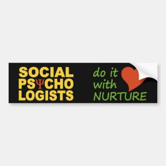 Social Psychologists bumpersticker Bumper Sticker