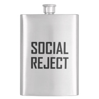Social Reject Funny Flask