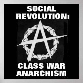 social revolution: class war anarchism poster