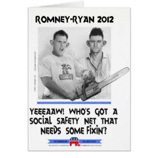 social safety net ryan romney tshirt.jpg greeting card