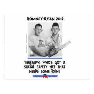 social safety net ryan romney tshirt.jpg postcard