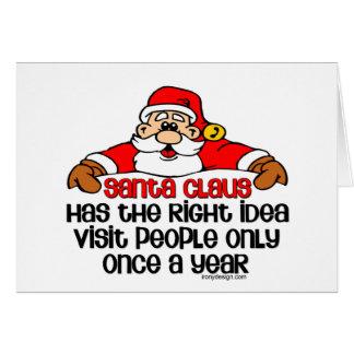 Social Santa Humor Greeting Card