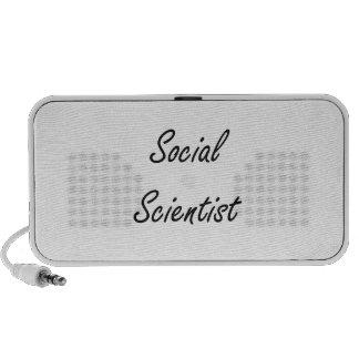Social Scientist Artistic Job Design iPod Speakers