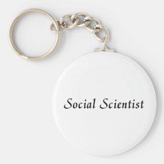 Social Scientist Basic Round Button Keychain