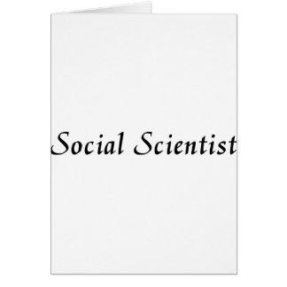 Social Scientist Greeting Card
