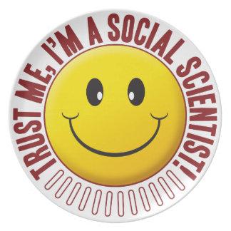 Social Scientist Trust Smiley Party Plates